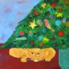 le chat acrylic on canvas (album cover) 30x 30
